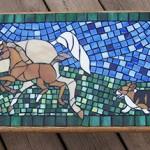 Bench w horses n PWC